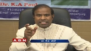 Discussion with KA Paul over Political Agenda and Alliance with Pawan Kalyan | Part 1| ABN Telugu