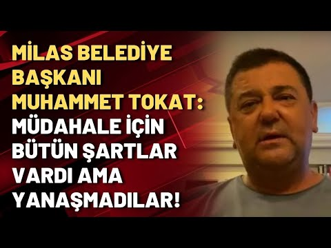 Milas Belediye Başkanı Muhammet Tokat: Müdahale için bütün şartlar vardı ama yan