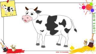 cow draw easy step simple kuh zeichnen kinder