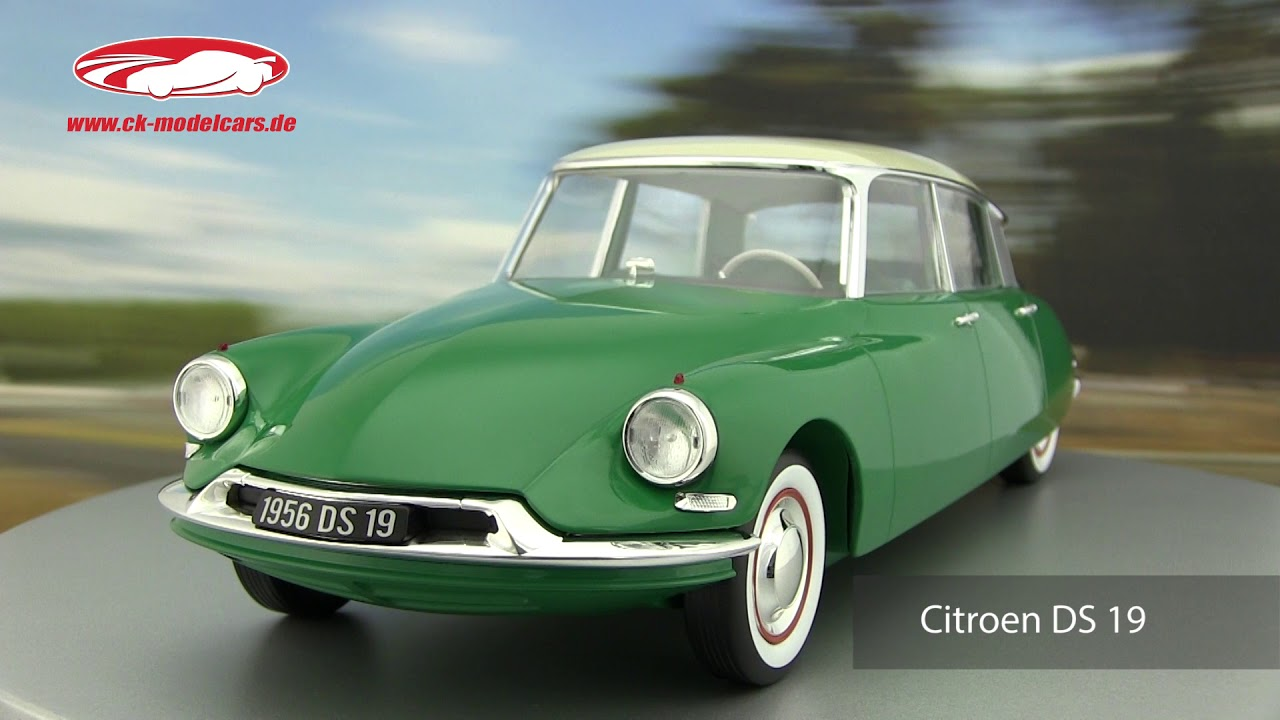 ck modelcars video citroen ds 19 baujahr 1956 gr n. Black Bedroom Furniture Sets. Home Design Ideas