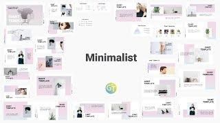Gambar cover Minimalist Powerpoint Template PPT Gratis