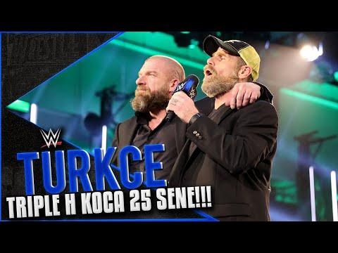 SmackDown Türkçe Altyazı | Triple H Geri Döndü!!! Shawn Michaels Eşlik Etti!