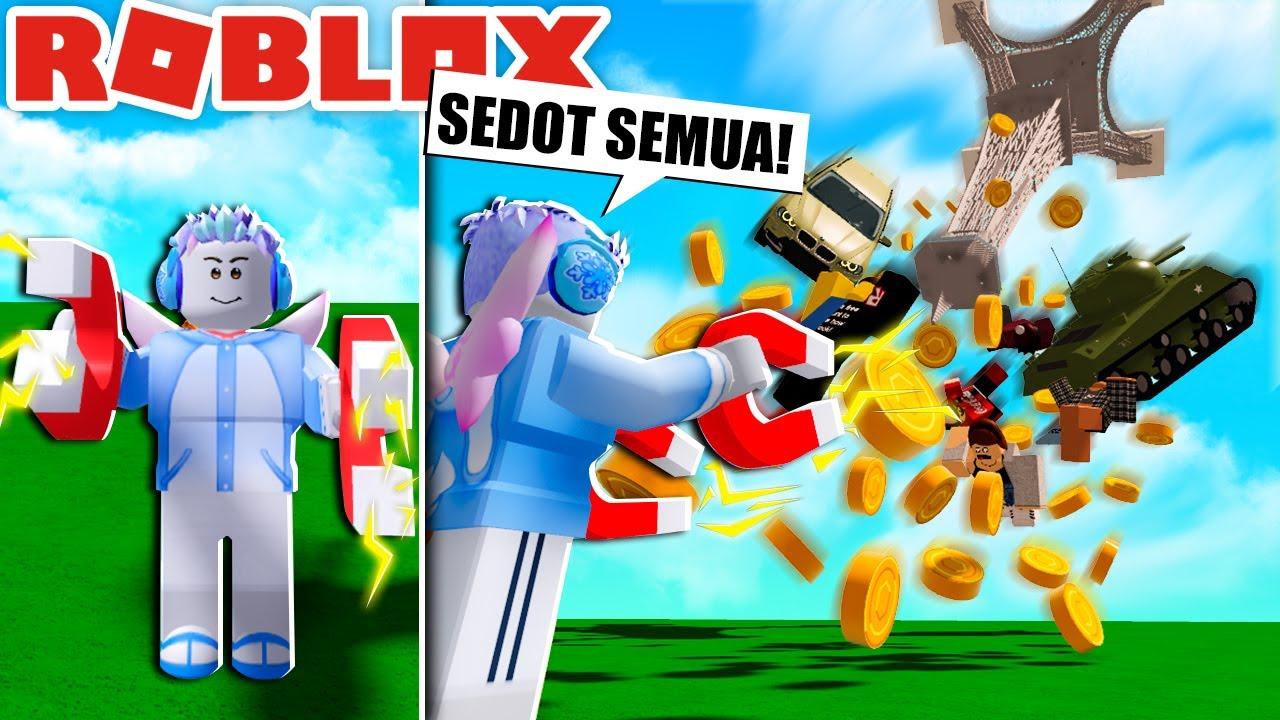 SEDOT SEMUA!!! MAGNET TERKUAT DI BUMI ROBLOX!!