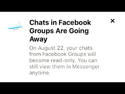 Chats In Facebook Groups Are Going Away?