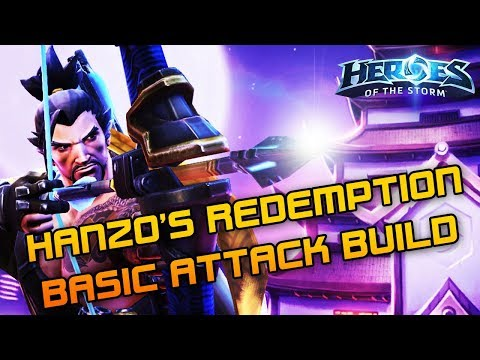 Hanzo's Redemption AA Build!  Solo Queue Silliness Heroes Of The Storm