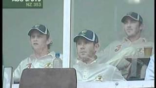 Glenn McGrath 61 & Jason Gillespie partnership - thrash NEW ZEALAND
