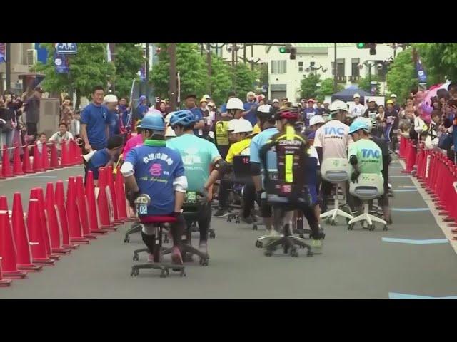 Јапонци организираат трка со канцелариски столчиња