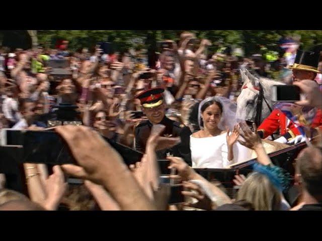 The post-wedding procession