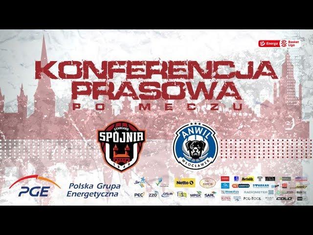 Konferencja prasowa po meczu PGE Spójnia Stargard -  Anwil Włocławek