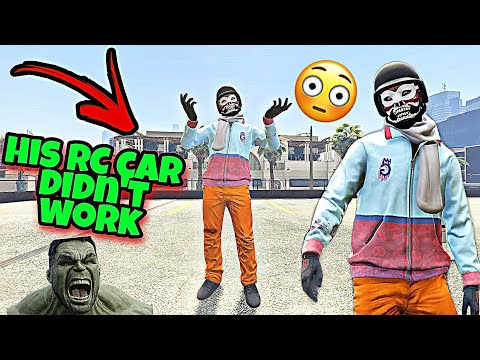 when the tryhard try to call the RC car on you but end up failing🤣 so he rage quits 🤬(GTA 5 online)