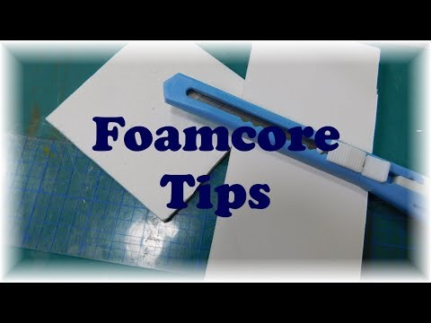 Tips for Dollhouse Miniature Crafting-  Working with Foamcore