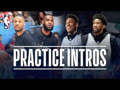 Team Giannis and Team LeBron All-Star Practice Introductions thumbnail