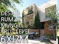 Rumah Mungil dengan split level dan void - Lahan 6x12m2 [kode 163]