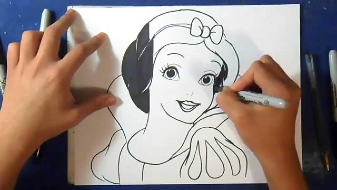 fácil como desenhar o branca de neve disney youtube