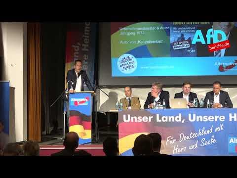 Ehrliche Worte: Thorsten Schulte (parteilos) zum 24.9. mit Prof. Dr. Jörg Meuthen in Bad Muskau.