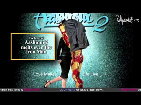 Aditya Roy Kapur is replaced by Iron Man in the poster of Aashiqui 2