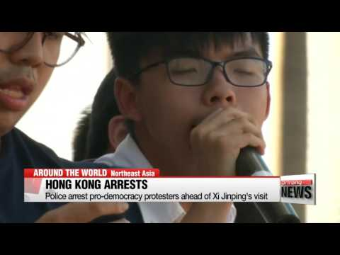 Hong Kong police arrest pro-democracy protesters, including Joshua Wong