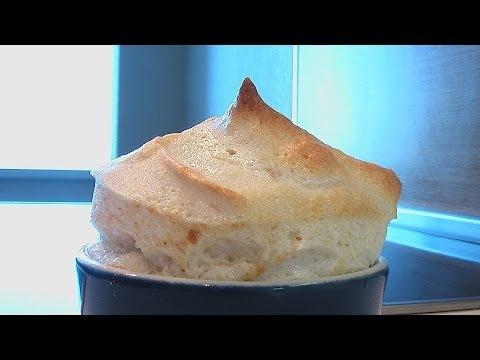 Творожное суфле с яблоками - рецепт с фото