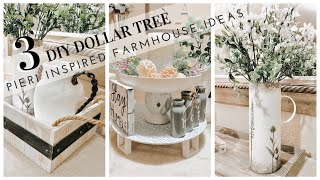 DIY DOLLAR TREE PIER 1 INSPIRED | MODERN FARMHOUSE DECOR