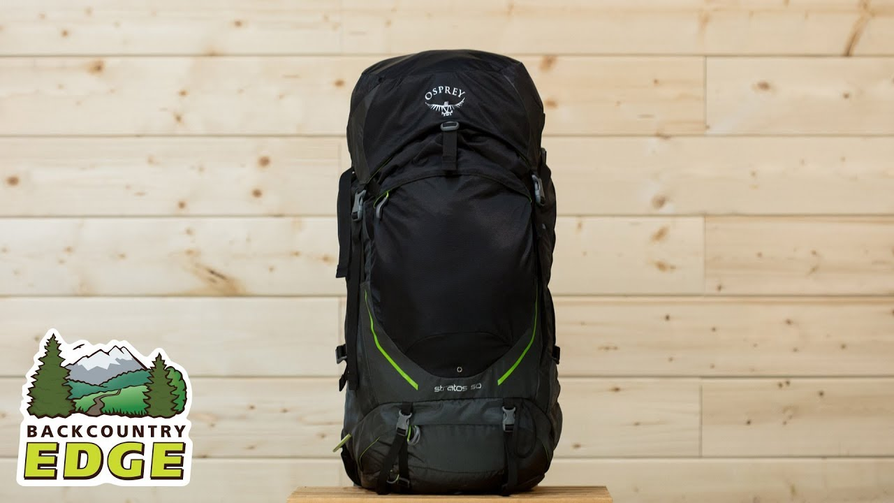 Osprey Stratos 50 Internal Frame Backpack - YouTube 109c37b84f