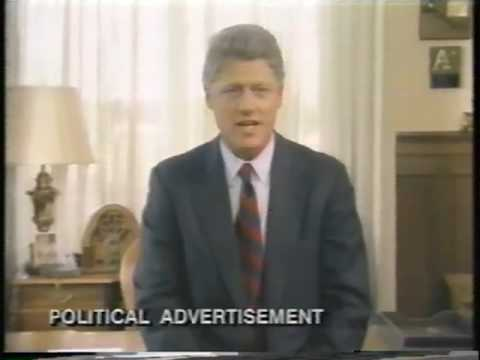 1992 Bill Clinton Campaign Ads (around October 1992)