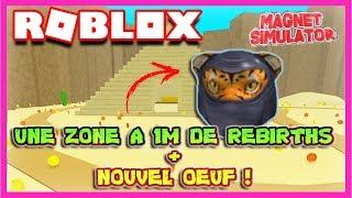 UNE ZONE A 1M DE REBIRTHS + NOUVEL ŒUF ! | Roblox Magnet Simulator Update 16