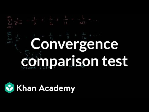 Comparison test to show convergence