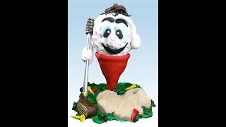 Dev Golf Topu Tee Babalar Günü Pastası yapmayı öğrenin! Nasıl 6 Video Eğitimi Bölümü için dekorasyon-