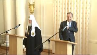 С.Лавров на приеме по случаю православной Пасхи