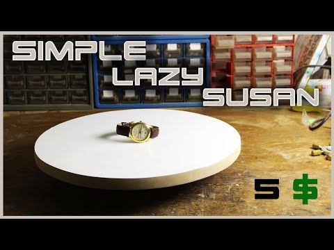"Make A Simple Rotating Table ""Lazy Susan"""