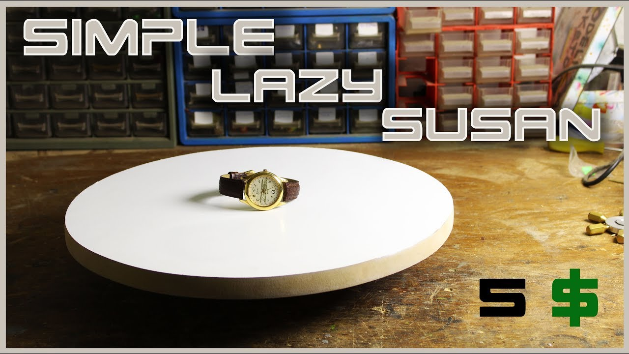 Make A Simple Rotating Table Lazy Susan YouTube - Rotating work table