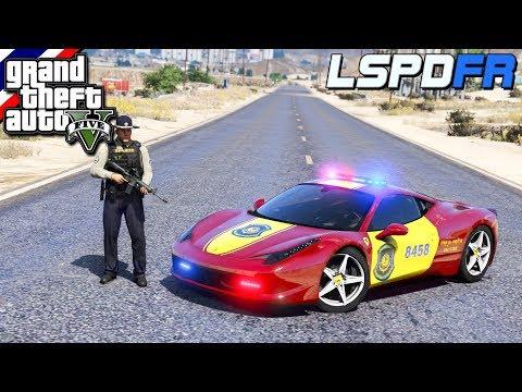 GTA V - LSPDFR มาเป็นตำรวจในเกม GTA V นายอำเภอตั้มกับรถสุดหรู 30 ล้านบาท Ferrari 458 #74
