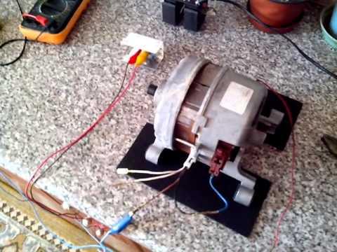 Пуск двигателя от стиральной