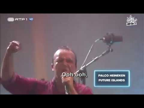 Future Islands DOVES Lyrics on Screen