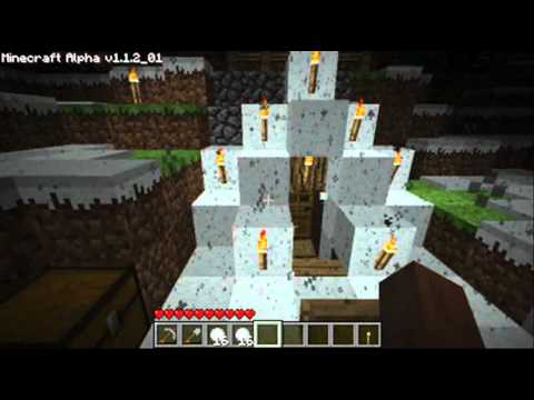 Minecraft Snow World and demonstration of snow balls