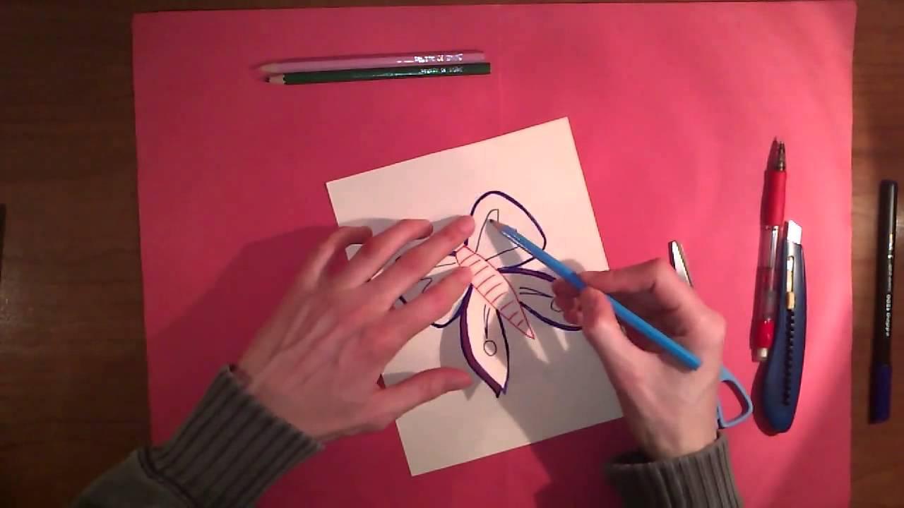 Tarjeta en forma de mariposa 3D - Felicitación de cumpleaños ...