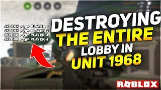 THIS GUN DESTROYED THE ENTIRE LOBBY IN UNIT 1968!!! (Unit 1968 Roblox)
