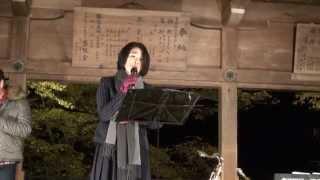 北牧チカ(vo)、川上弦太(sax)、松尾茂起(p):@京都・貴船神社 2012年...