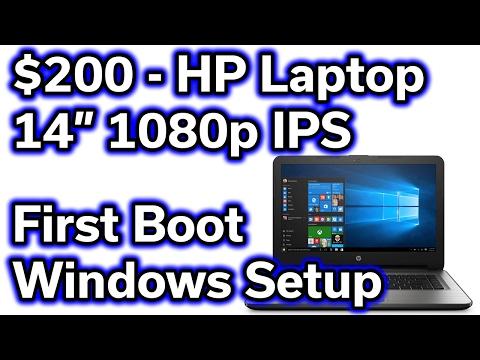 $200 HP Laptop - First Boot & Windows Setup