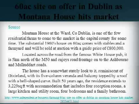 southwood norsemytho group review, 60ac site on offer in Dublin as Montana House hits market
