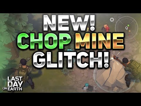 HOW TO FARM VERY FAST! CHOP AND MINING GLITCH! - Last Day On Earth Survival