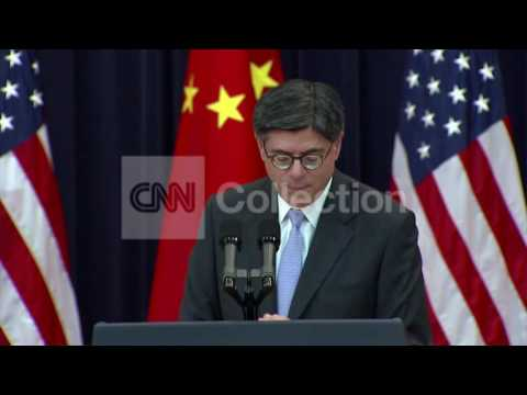 DC:TREASURY SECY LEW- CHINA NO CYBER INTRUSION