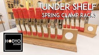 Under Shelf Spring Clamp Rack