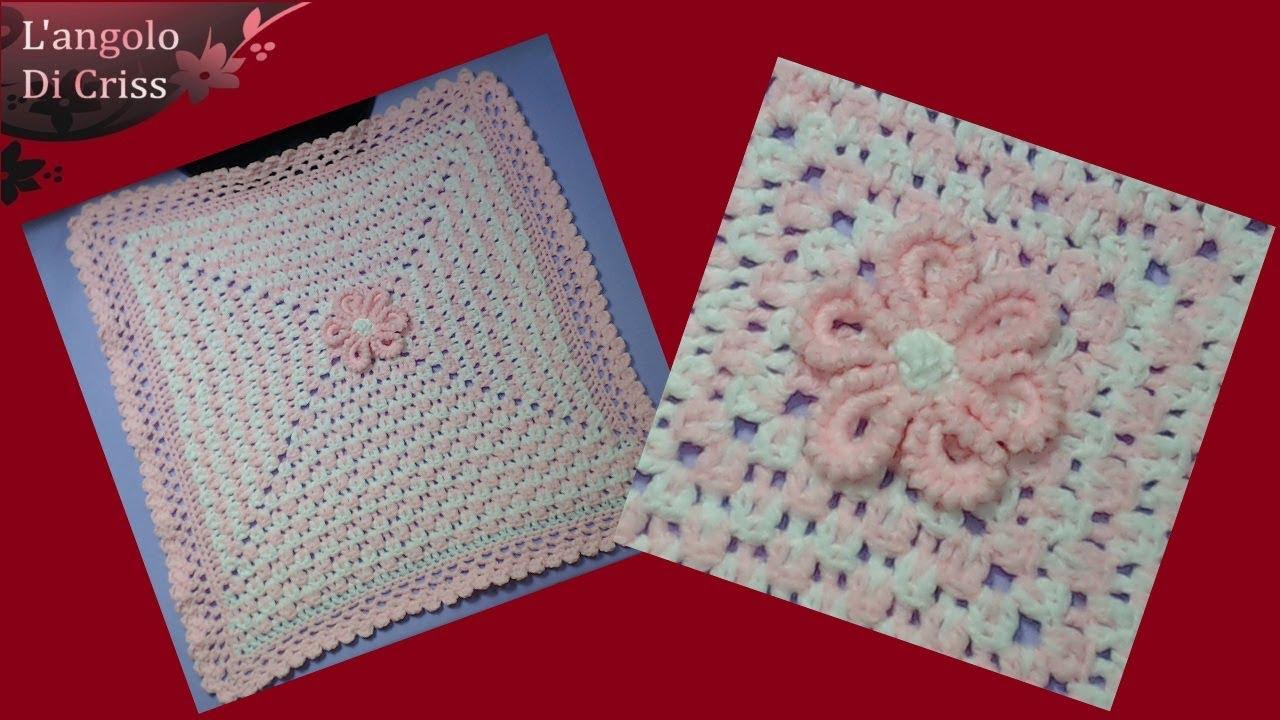 Copertina Neonato Alluncinetto Marshmallow Uncinetto Facile