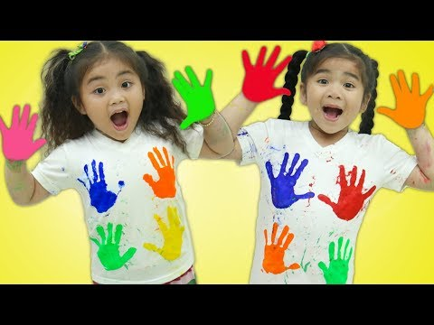 Suri & Annie Pretend Play Finger Painting Kids Art with Colored Paint Kids Toys