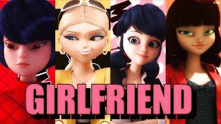 Kagami x Chloé x Marinette x Lila • Girlfriend | Miraculous AMV