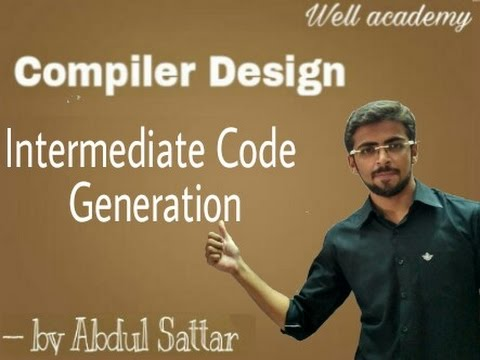 Compiler Design lecture  - -  Intermediate Code Generation Techniques ( Eng-Hindi )