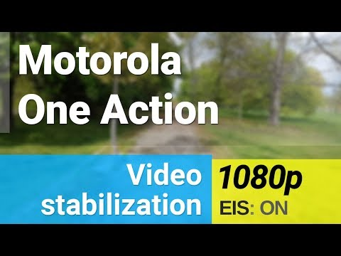 Motorola One Action 1080p/30fps video stabilization sample - action camera
