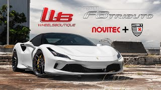 WORLDS FIRST FERRARI F8 TRIBUTO LOWERED ON NOVITEC SUSPENSION + ANRKY WHEELS!