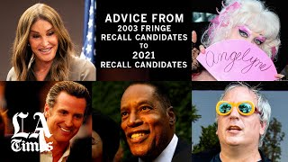 Election advice from the 2003 recall's fringe candidates